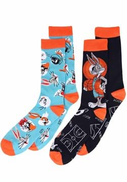 Mens Black Looney Tunes Squad 2 Pack Socks
