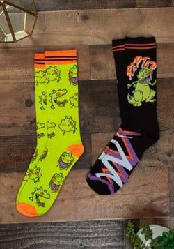 Mens Black Reptar 2 Pack Socks