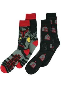 Men's Black Boba Fett 2 Pack Socks