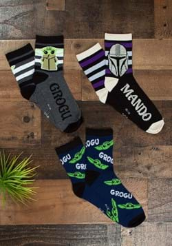 Men's Mandalorian Mando/Grogu 3 Pack Socks