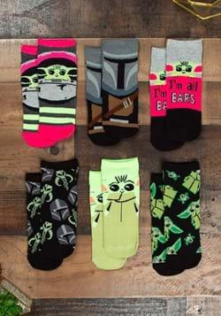 Ladies Mandalorian The Child 6 Pack Socks