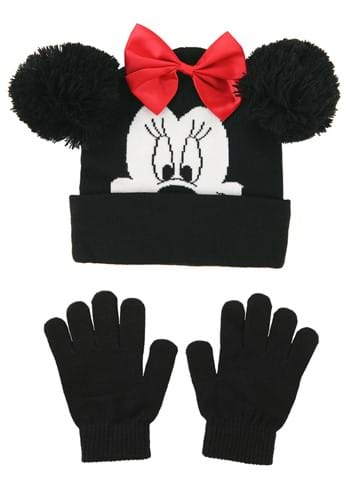 Minnie Mouse Kids Hat and Glove Set