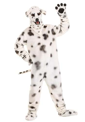 Adult Dalmatian Suit With Mouth Mover Mask
