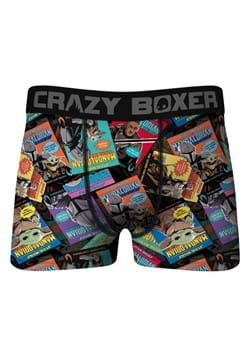 Crazy Boxers Mens Mandalorian Retro Comic Boxer Briefs