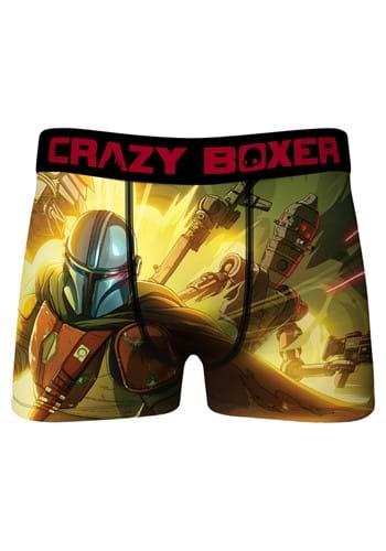 Crazy Boxers Mens Mandalorian Fight Boxer Briefs