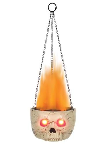 Skull Flaming Sconce Halloween Decoration