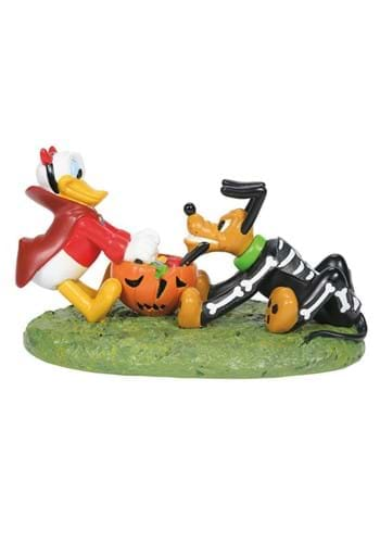 Department 56 Donald and Pluto Halloween Tussle