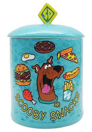Scooby Doo Food Pattern Ceramic Cookie Jar