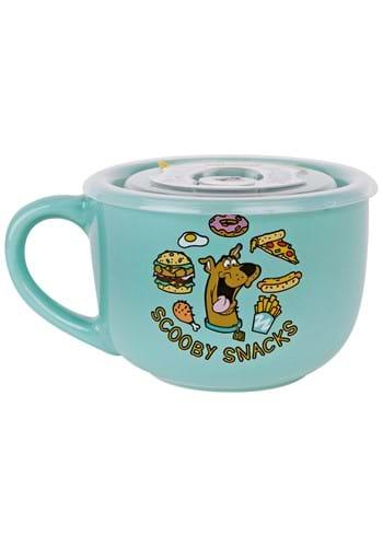 Scooby Doo Food Pattern 24 oz Ceramic Soup Mug with Lid