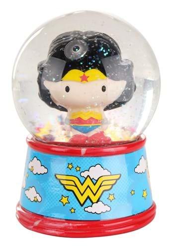Wonder Woman Chibi 6inch Light Up Snow Globe