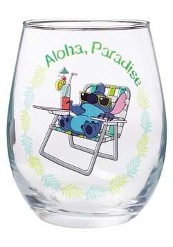 Lilo and Stitch Aloha Paradise 20oz Stemless Glass