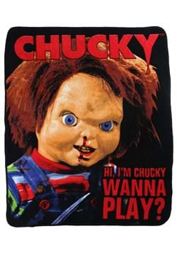 Childs Play Chucky Wanna Play 50x60in Throw Blanket