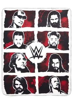 WWE Superstar Grid 50in x 60in Fleece Throw