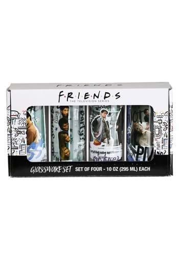 4 Pc Friends Scene Quotes Glass Tumbler Set-1