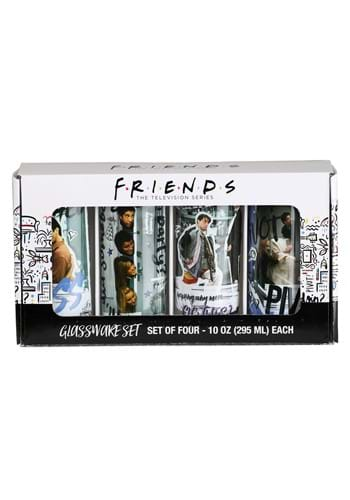4 Pc Friends Scene Quotes Glass Tumbler Set