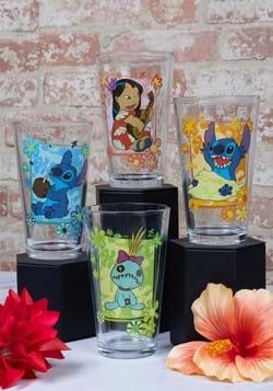 4 Pc Lilo and Stich Tropical Glass Set
