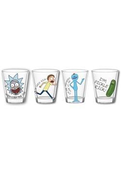 4 Pc Rick and Morty Shot Glass Set