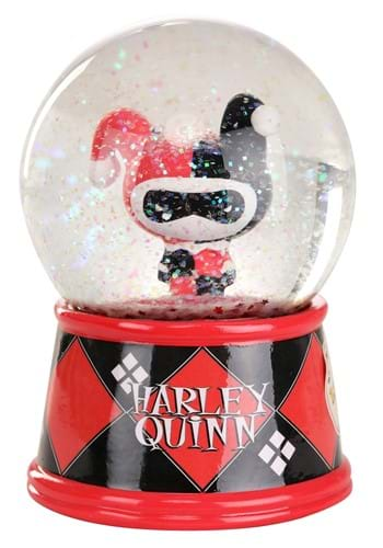 Chibi Harley Quinn 6 inch Light Up Snow Globe