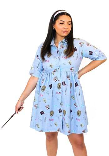 Cakeworthy Luna Lovegood Button Down Skater Dress