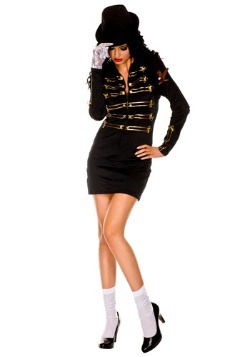 Women's One Glove Pop Star Costume