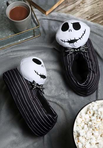 Nightmare Before Christmas Jack Slippers for Adults