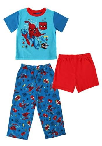 3 Pc Toddler Boys Spiderman Go Spider Sleep Set