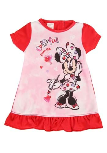 Toddler Girls Minnie Colorful Dorm Nightgown