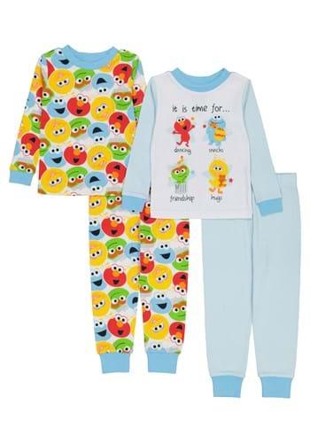4 Pc Toddler Boys Sesame Street Sleep Set