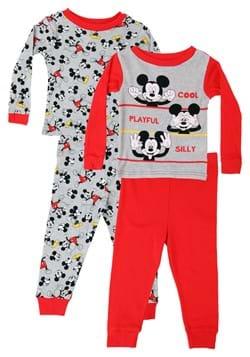4 Pc Toddler Boys Mickey Moods Sleep Set
