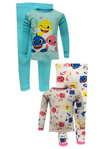 4Pc Toddler Wink and Smile Baby Shark Sleep Set