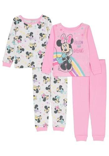 4 Pc Toddler Girls Minnie Follow Your Dreams Sleep