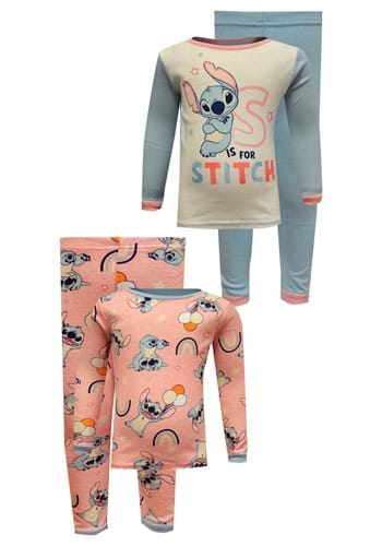 4 Pc Toddler Girls Stitch Sleep Set