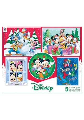 5 in 1 300 500 750 Piece Disney Multi Pack Holiday Puzzle
