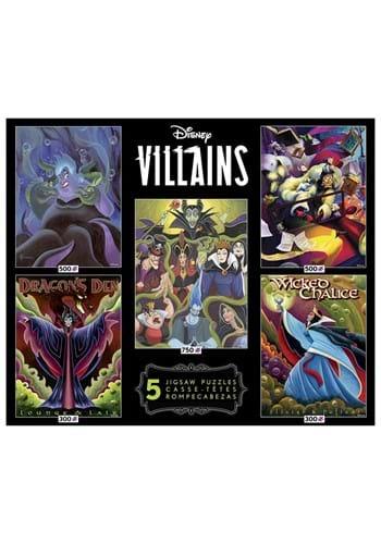 5 in 1 300 500 750 Piece Disney Multi-Pack Villains
