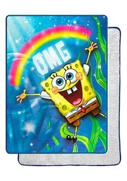 Spongebob OMG Oversized Silk Touch Sherpa Throw