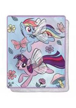 My Little Pony Floral Flight Silk Touch Sherpa Throw