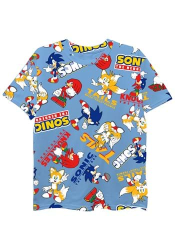 Boys Sonic The Hedgehog All Over Print Tee