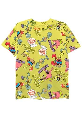 Boys Spongebob All Over Print Tee