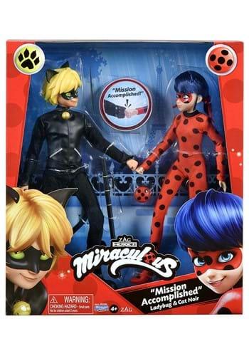 Miraculous Ladybug Cat Noir Doll 2 Pack
