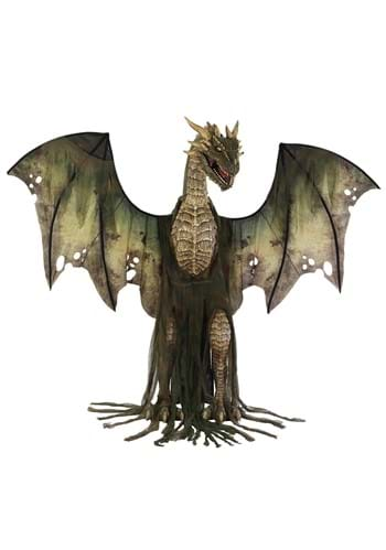 7ft Animated Winter Forest Dragon