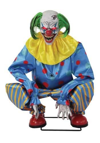 Animated Blue Crouching Clown