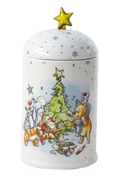 Disney Winnie the Pooh and Friends Christmas Cookie Jar