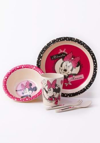 Disney Bow Minnie 5PC Bamboo Set