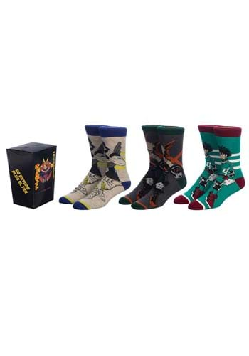 Adult My Hero Academia 3 Pair Crew Socks upd
