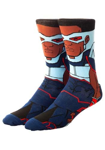 Marvel The Falcon 360 Character Crew Sock
