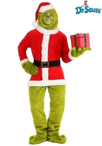 The Grinch Adult Santa Open Face Costume