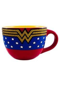 Wonder Woman Logo Glitter 24oz Soup Mug