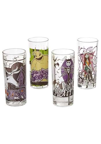 Nightmare Before Christmas Character 4pc Glass Set