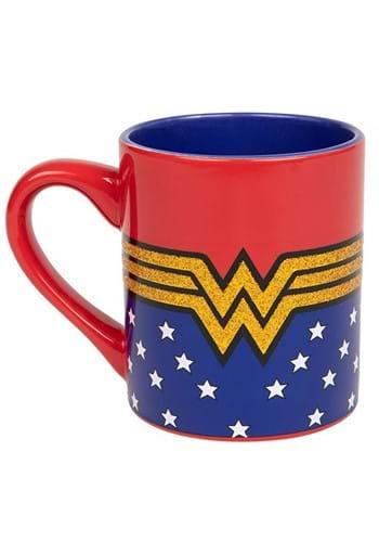 Wonder Woman Logo 14oz Glittery Ceramic Mug main