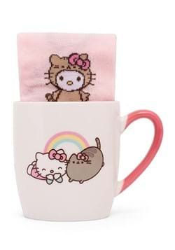 Hello Kitty x Pusheen Sock in a Mug Set